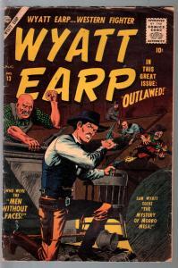 Wyatt Earp #13 1957-Atlas-John Severin-Dick Ayers-hooded menace-VG-