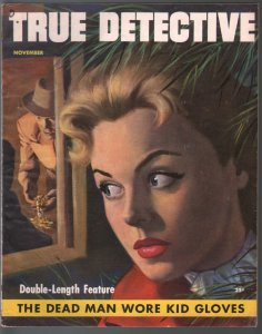 True Detective 11/1953-MacFadden-Good Girl Art-DL Cahmpion-pulp crime-FN