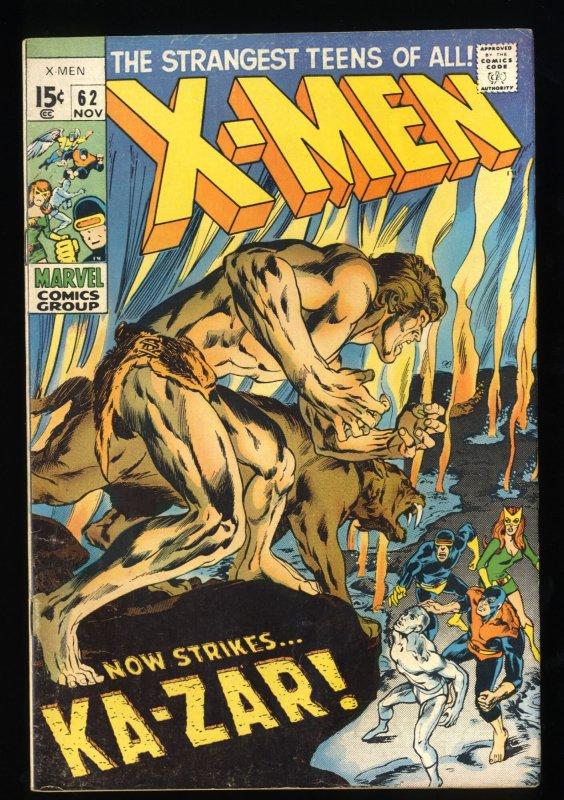 X-Men #62 FN 6.0 Ka-Zar! Marvel Comics