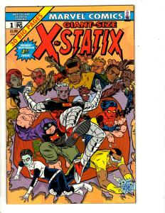 Lot Of 10 X-Statix Marvel Comic Books # 1 Giant Sz 2 3 4 5 6 7 8 9 10 X-Men CR53