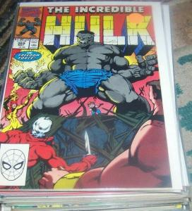 Incredible Hulk  # 369  MAY 1990 Marvel joe fixit grey hulk  vegas FREEDOM FORCE