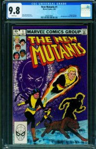 The New Mutants #1 CGC 9.8 1st issue-1983 Marvel comic book 2042613007