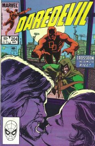 Daredevil #204 (Mar 1984) - with Crossbow - Fine/Very Fine - Marvel Comics