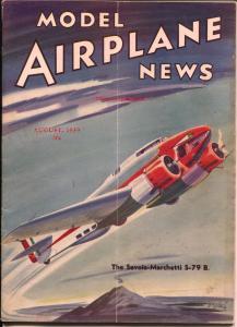 Model Airplane News 4/1938-Heinkel Pursuit plane cover-Josef Kotula-VG