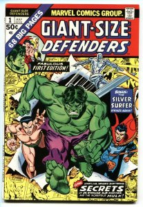 Giant-Size Defenders #1 Silver Surfer - Dr Strange- Sub-Mariner 1974 VF+