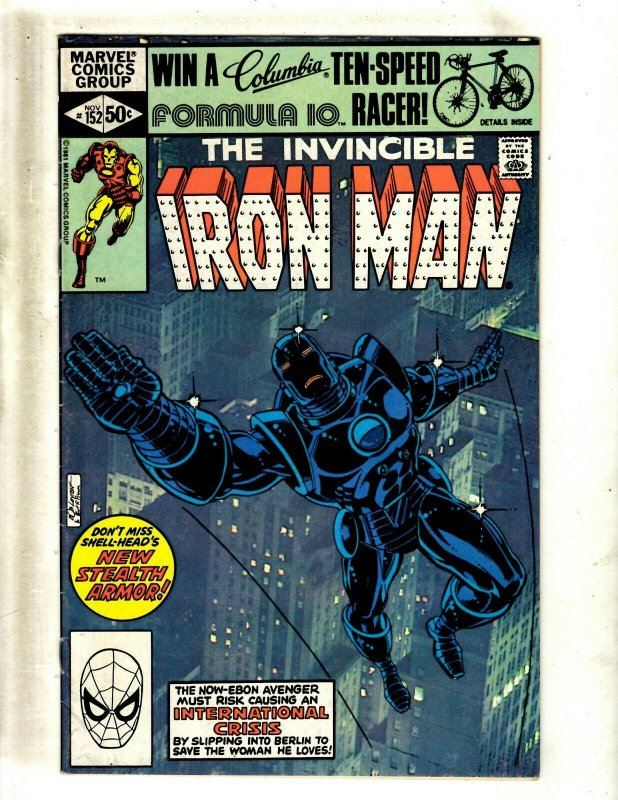 Iron Man # 152 FN/VF Marvel Comic Book Avengers Hulk Thor Captain America J462