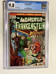 Frankenstein 3 cgc 9.8 ow/w pages marvel 1973