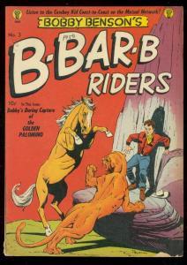 B-BAR-B RIDERS #3 1950-BOBBY BENSON-BOB POWELL COVER VG
