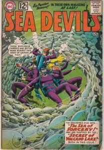 Sea Devils #4 (Apr-62) FN- Mid-Grade Sea Devils (Dane Dorrence, Biff Bailey, ...