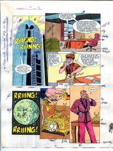 Elementals #9 Page #5 Original Color Guide Ken Feduniewicz
