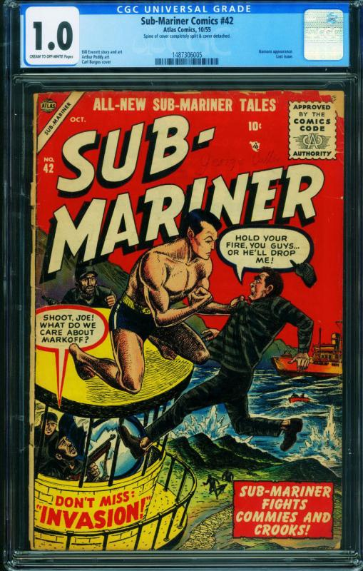 Sub-Mariner #42 CGC 1.0-Last issue-ATLAS comic book-1955 1487306005
