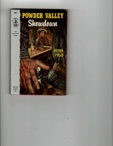 3 Books Powder Valley Showdown Six Bullets Left The Night Horseman Western JK11