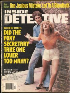 Inside Detective 12/1978-Dell-spicy cover-Dixie horror-mummified woman-VG