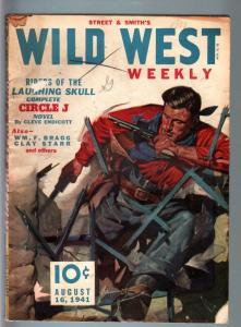 WILD WEST WEEKLY 8/30/1941-WESTERN PULP-BUD JONES VG