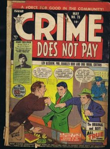 Crime Does Not Pay #75 ORIGINAL Vintage 1949 Gleason Golden Age