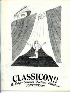 Classicon Convention Program Book 11/9/1975-Jim Steranko-Ann Arbor MI-VF