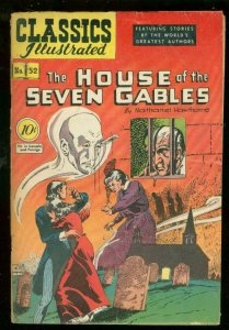 CLASSICS ILLUSTRATED #52 HRN 53-HOUSE OF SEVEN GABLES VG