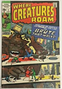 WHERE CREATURES ROAM#1 FN/VF 1970 MARVEL BRONZE AGE COMICS