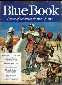 BLUE BOOK PULP-SEPT 1941-VG/FN-STOOPS COVER-BEDFORD-JONES-MILL-SURDEZ VG/FN