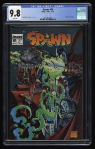 Spawn #15 CGC NM/M 9.8 White Pages