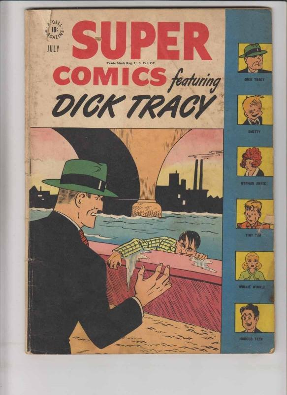 Super Comics #110 low grade - july 1947 - dick tracy - orphan annie - dell