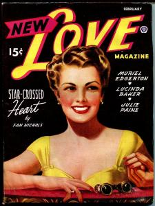 New Love 2/1946-Popular Pubs-pin-up girl cover-romance stories-FN/VF