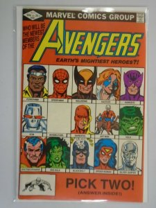 Avengers #221 Direct edition 6.0 FN (1982 1st Series)