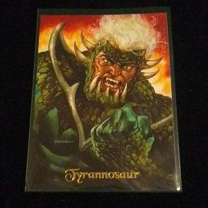 1994 SKYBOX MASTER SERIES ULTRAVERSE TYRANNOSAUR  PROMO CARD #P0, NM/M