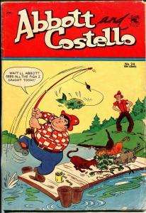 Abbott and Costello #124 1954-St John-Fishing cover-movie funny men-VG
