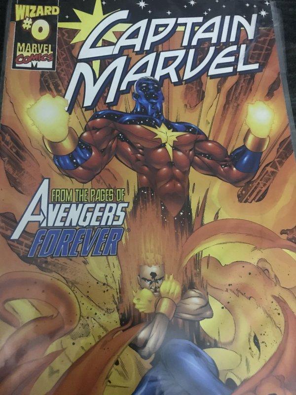 Marvel Wizard Captain Marvel #0 Mint Hot