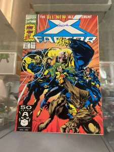 X-Factor 71 NM SIgned by Larry Stroman