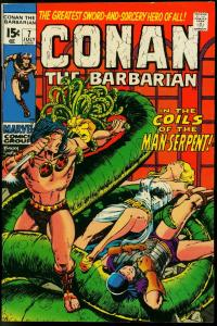CONAN THE BARBARIAN #7-BARRY SMITH ART VF