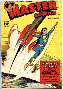 MASTER #113-1950-CAPTAIN MARVEL JR-TOM MIX-NYOKA JUNGLE GIRL-ROCKET