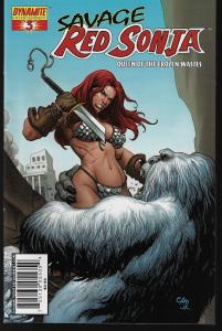Red Sonja Queen of the Frozen Wastes #3 (Dynamite) - Frank Cho Cover