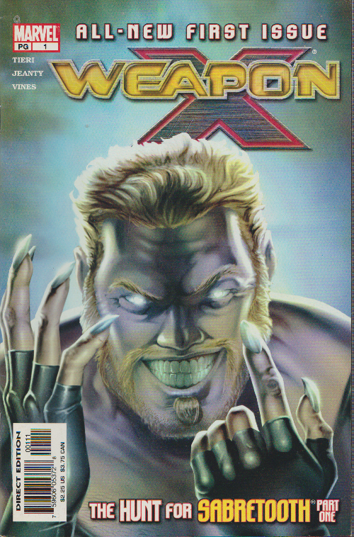 WEAPON X 1st ISSUE, 1st PRINT! WOLVIRNE / SABERTOOTH, MARVEL - BAG & BOARDED
