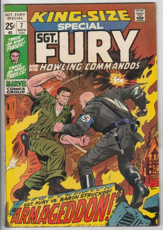 Sgt. Fury and His Howling Commandos, King-Size #7 (Nov-71) FN/VF Mid-Grade Sg...