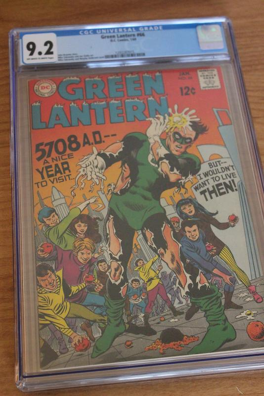 Green Lantern #66 (DC, 1969) CGC NM- 9.2 Off-white to white pages