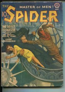 SPIDER-5/1941-POPULAR PUBS-HOODED MENACE-HERO PULP-RAPHAEL DE SOTO-fn