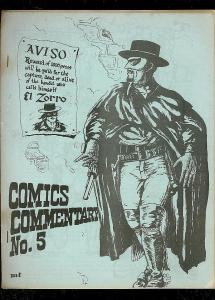 COMICS COMMENTARY #5 1971-ZORRO-CIRCULATION INFO-RARE VG
