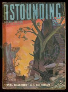ASTOUNDING SCIENCE-FICTION APR 1940-L RON HUBBARD-PULP VG