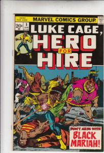 Luke Cage Hero for Hire #5 (Jan-73) NM Super-High-Grade Luke Cage
