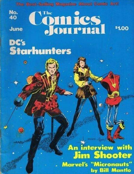 ORIGINAL Vintage 1977 Comics Journal Magazine #40 Starhunters Micronauts