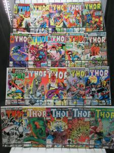 Mighty Thor (Marvel 1991-3) #432-465 Lot of 30Diff Ron Frenz Marz Zick +++