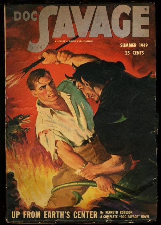 DOC SAVAGE 1949 SUM-RARE LAST ISSUE-HIGH GRADE FN