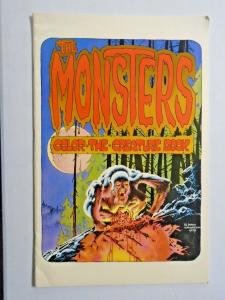 Monsters Color-the-Creature Book #1 - Berni Wrightson - see pics - 4.0 - 1974