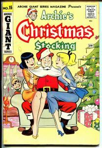 Archie's Giant Series #15 19562-r-Santa-Veronica-Betty-paper dolls-VG+