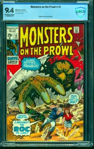 Monsters on the Prowl #10 CBCS NM 9.4 Off White to White