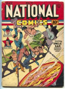 National Comics #11 1941- LOU FINE cover- UNCLE SAM vg-