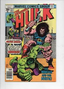 HULK #211, VF/NM, Incredible, Bruce Banner, Dr Druid, 1968 1977, Marvel