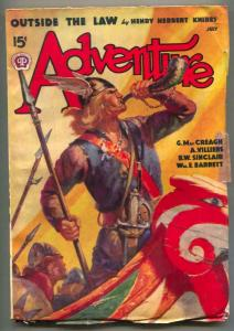 Adventure Pulp July 1938- Outside the Law- viking cover